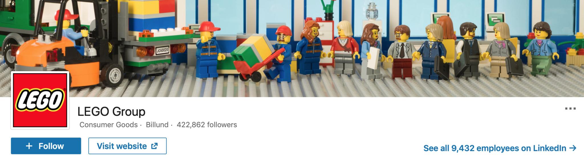 LinkedIn profile Lego